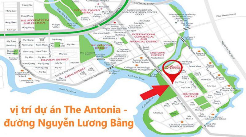 Vị trí dự án The Antonia - Chung cư Phú Mỹ Hưng