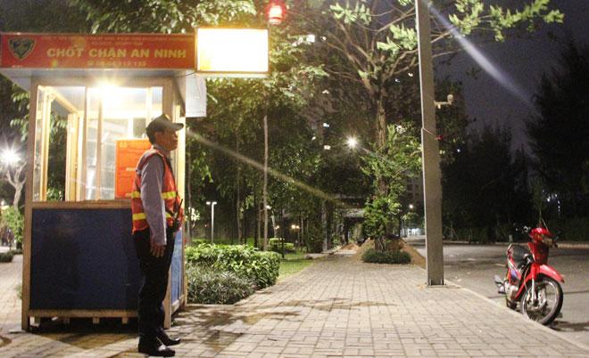 Hệ thống an ninh tại các chốt chặn túc trực 24/7 mang lại sự an tâm cho cư dân