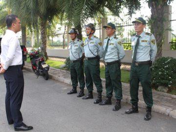 Bộ phận quản lý bảo vệ Phú Mỹ Hưng triển khai công tác
