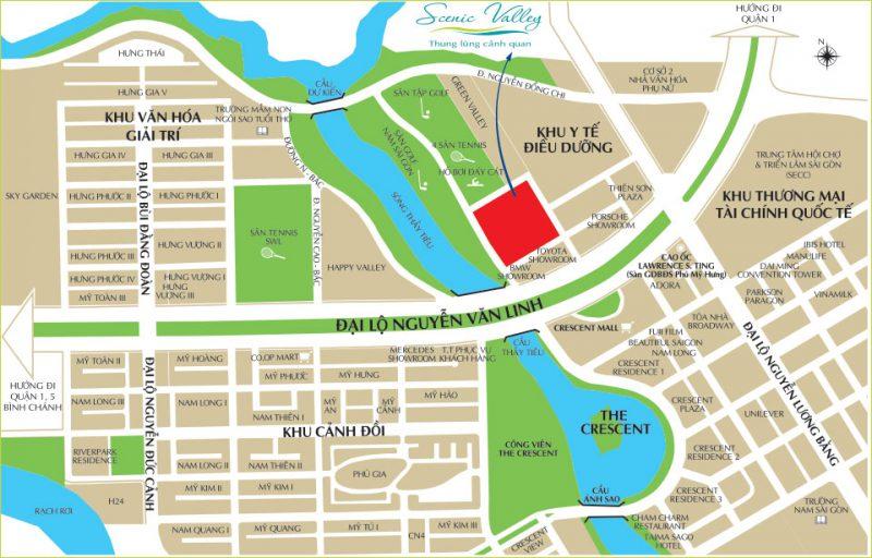 Vị trí dự án căn hộ Scenic Valley