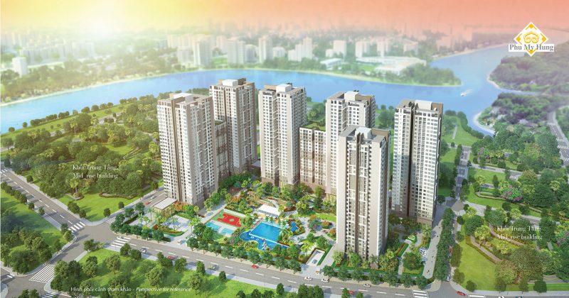 Dự án Saigon South Residence có view sông nhìn về Phú Mỹ Hưng