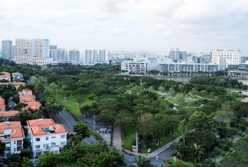 Hệ thống công viên cây xanh tại Phú Mỹ Hưng cao gấp 16 lần so với toàn thành phố