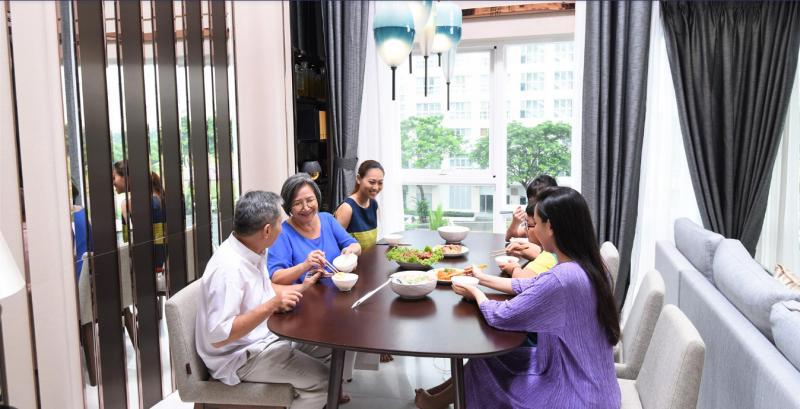 Căn hộ Dupplex dành cho gia đình nhiều thế hệ cần không gian riêng tư rộng lớn