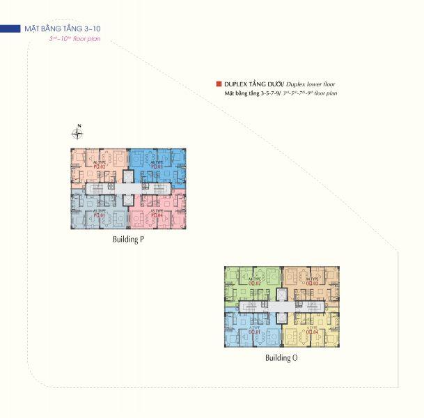 Mặt bằng tầng điển hình và các thông số của căn hộ