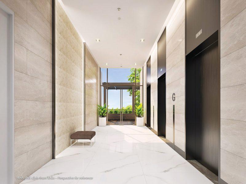 Sảnh hành lang giữa các căn hộ