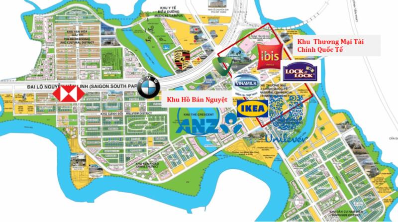 Bản đồ quy hoạch của KĐT Phú Mỹ Hưng