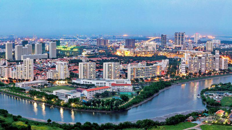 View sông dự án River Park và nhiều dự án khác trên đường Nguyễn Đức Cảnh (khu đô thị PMH)