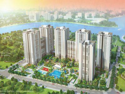 Phối cảnh toàn bộ dự án Saigon South Residence