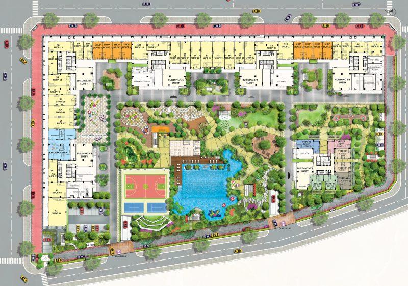 mặt bằng tầng trệt dự án Saigon South Residence