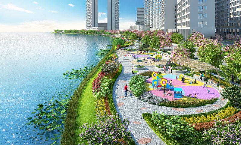 Công viên Hoa Anh Đào hứa hẹn là địa điểm vui chơi mới của Phú Mỹ Hưng