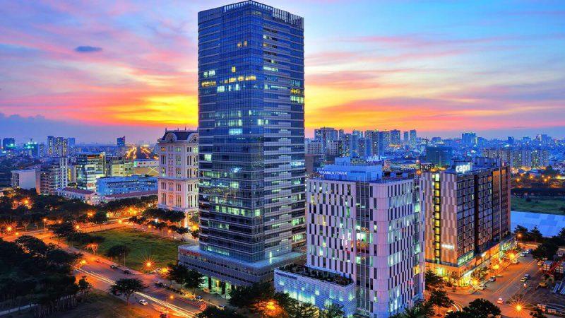 Tòa nhà Petroland và Vinamilk tại trung tâm Thương mại tài chính Quốc tế - PMH