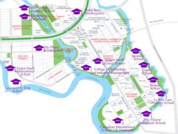 Hơn 30 cơ sở giáo dục tại Khu đô thị Phú Mỹ Hưng