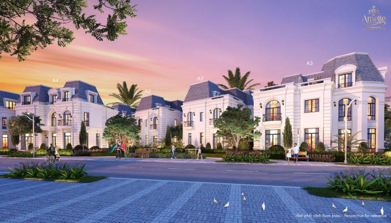 Mặt ngoài Biệt thự đơn lập dự án Amelie Villa được bàn giao hoàn thiện
