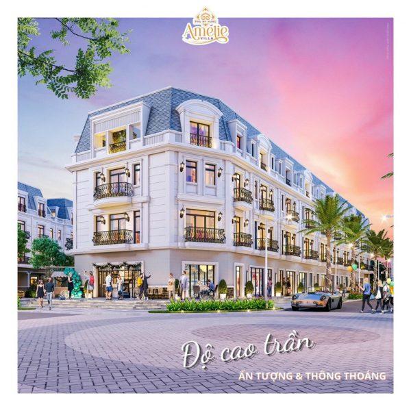 Nhà phố Amelie Villa có độ cao trần thông thoáng