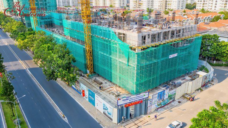 Tiến độ dự án The Antonia cập nhật Tháng 2/2021 đã xây đến tầng 4