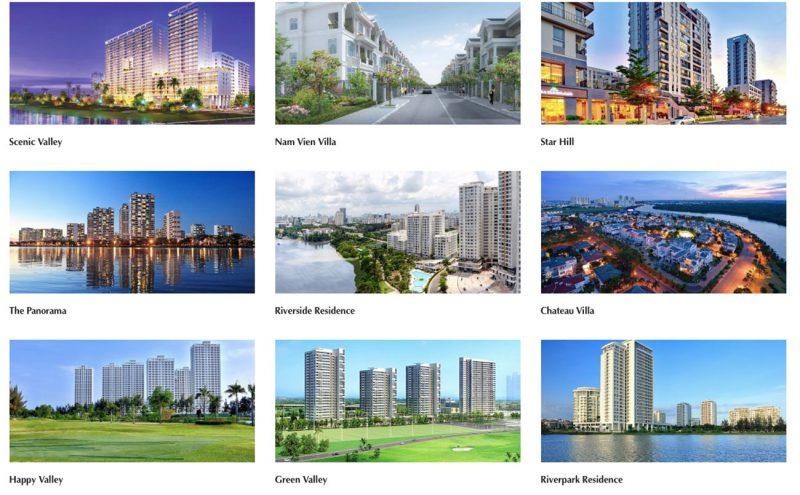 Một số dự án nổi bật Phú Mỹ Hưng đã triển khai và bàn giao