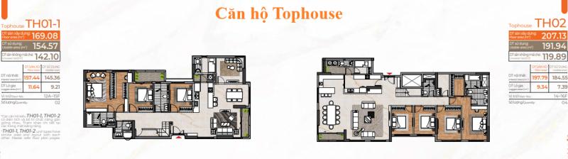 Layout căn hộ Tophouse